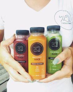 Real & Raw Juices van Twenty Two Gym & Juice. Een Private Gym, waar je ook fantastisch kan lunchen. Lekker en gezond in Eindhoven.