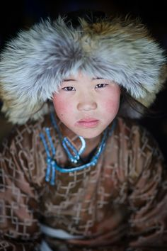 Faces of Mongolia - Mongolian girl, Gobi desert, Mongolia #world #cultures