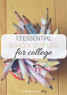 13 essential school supplies for college students michelle a School Supplies Highschool, College School Supplies, School Supplies Organization, College Classes, College Organization, College Hacks, College Fun, College Life, College Packing