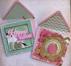 'Easter' Cards by Alison Bevis for Kaisercraft 'All that Glitters' collection ~ Cards 1.