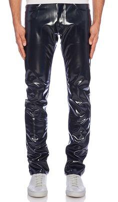 Latex Men, Latex Pants, Latex Suit, Marc Jacobs, Pvc Trousers, Indigo, Skin Head, Teenage Guys, Leather