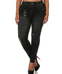 Love this Black Jeggings - Plus on #zulily! #zulilyfinds