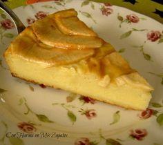 Tarta Cremosa de Manzana - Con Harina En Mis Zapatos