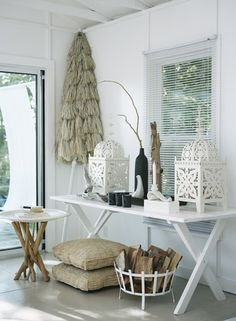 oversized Moroccan lanterns, branch table