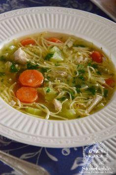 Chicken Noodle Soup-side view-stonegableblog.com