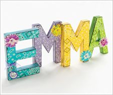 Decorated Wall Letters