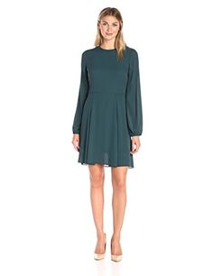 Lark & Ro Women's Blouson Sleeve Flare Dress, Spruce, S L... https://smile.amazon.com/dp/B01EY7I7OU/ref=cm_sw_r_pi_dp_x_UZY5yb78FAMTC