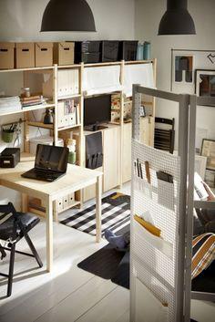 IVAR kastsysteem | #IKEA #werkplek #hout #kast #tafel