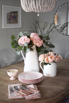 It's time to start planning your Spring celebrations! This pale pink dish ware is perfect for Spring hosting.  HomeGoods Sponsored Pin.