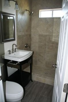 bathroom tile-still trying to find a better picture of porcelain tile, this shape, but perhaps lighter in color.