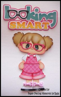 Girl+with+Glasses+Set+Premade+Paper+Piecing+for+Scrapbook+Pages+by+Babs+