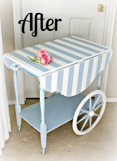 For the love of white: French Flower Cart