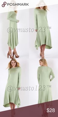 COMING SOON- MOSS MIDI LONG SLEEVE DRESS MORE DETAILS COMING SOON! Arriving by 4/1 ValMarie Boutique Dresses Midi