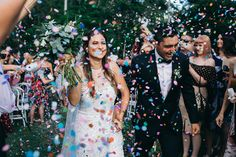 Colette + Paul's beautiful marquee wedding, on a private venue on the Gold Coast. Created by Sunshine + Confetti www.sunshineandconfetti.com.au Photos: Figtree Pictures, Flowers: The Nesst, Cake: The Cake that Ate Paris, Stationery: Sunshine + Confetti.