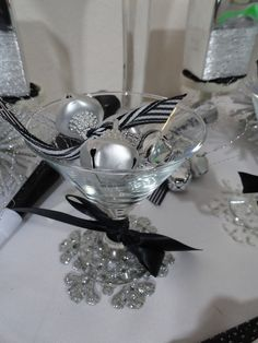 """Photo 3 of 27: black white and silver / New Year's """"New Year's Eve party"""" 