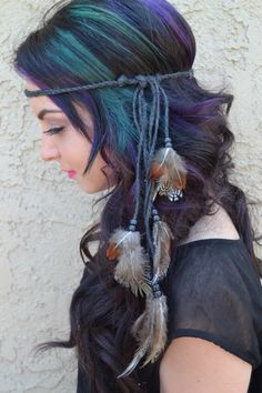 Adorable Feather Headband With Natural Feathers And Black Beads On Black Braided Jute. Light Weight And Comfortable. The Perfect Addition To Every Outfit. Great For Parties, Music Festivals, Raves, An