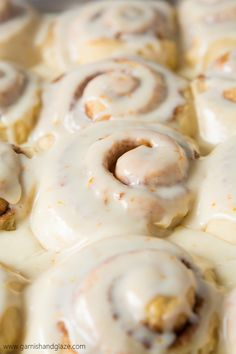 Orange Cinnamon Rolls are the perfect holiday breakfast. A light and fluffy homemade orange infused cinnamon roll smothered in an amazing orange glaze. Orange Cinnamon Rolls, Orange Sweet Rolls, Fruit Recipes, Brunch Recipes, Breakfast Recipes, Bread Recipes, Baking Recipes, Brunch Cake, Deserts