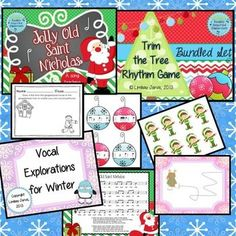 Songs and Activities for Winter for the elementary music classroom - This set is perfect for winter time in the music room. It includes both Christmas and winter-y songs, games and activities that are great for the Kodaly inspired music room.