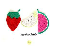 Agarraderas a crochet Frutales