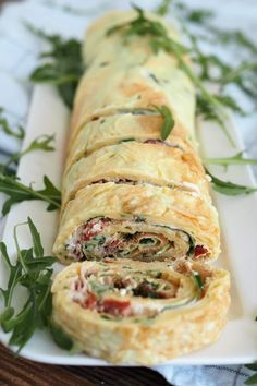 Hearty pancake roll as a party snack or for your next picnic - Herzhaft Party Finger Foods, Snacks Für Party, Appetizers For Party, Easy Dinner Recipes, Appetizer Recipes, Snack Recipes, Drink Recipes, Paleo Recipes, Pancake Roll