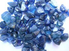 Stunning raw sapphires