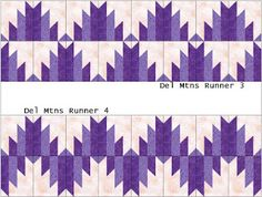 Scrapbox Quilts: February is Delectable Mountains Month- Table Runners – Handwerk und Basteln Quilt Boarders, Quilt Blocks, Quilting Projects, Quilting Designs, Quilted Table Runners Christmas, Southwest Quilts, Table Runner Pattern, Star Quilt Patterns, Panel Quilts