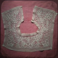 Antique Square French White Collar Lace  Vintage by @UnPetitChateau, $44.00