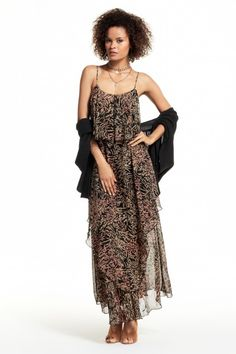 Smithka Tiered Silk Chiffon Dress