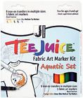 This kit contains 8 iron-on transfers in multiple sizes and 5 fabric markers. It includes one medium point marker each of Orange Yellow Green and Blue and one fine point marker in Black. Fabric Markers, Marker Art, Sewing Tools, Fabric Art, Orange Yellow, Blue, Kit, Tees, Artwork