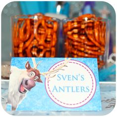 PRINTABLE Disney FROZEN Party Food Labels by Kraftsbykaleigh $3.00