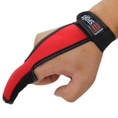 Nonslip Thumb Index Finger Glove Breathable Fishing 2 Finger Stall Protector