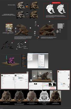 Frog sculpt  render (zbrush + keyshot) Zbrush Tutorial, 3d Tutorial, Digital Art Tutorial, Sculpting Tutorials, Art Tutorials, Zbrush Render, Digital Sculpting, Modeling Tips, Used Computers