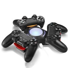 Triangle Triple Port Charge Station with LED Light USB Charger Charging Dock For Sony Playstation 4 PS4 Dualshock 4 Controller     document.write('');   if (window.AED_SHOW)      window.AED_SHOW(wid: '3380015',shortkey:'ubUzvFM', size:'728x90', custom:);    else {    ...