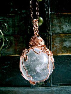 RESERVED- Full Moon- Large Quartz Amulet
