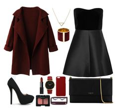 """Blacky Red"" by intanrpratiwi on Polyvore featuring RED Valentino, Qupid, Lanvin, Maison Takuya, Larsson & Jennings, NARS Cosmetics, Blink, Banana Republic and Dsquared2"