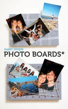 DIY: super simple photo display board