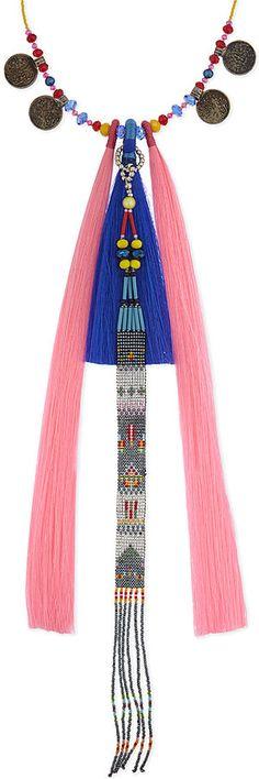 ARPANA RAYAMAJHI Beaded tassel charms necklace