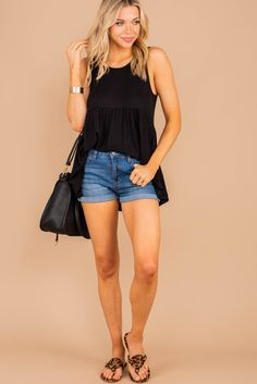 This tank is so classic and versatile! That babydoll fit is so cute and we love how flowy it is! This tank is a must have for the spring and summer! You can shop this simplistic tank at the Mint Julep Boutique! Mint Julep Boutique, How To Better Yourself, Must Haves, Baby Dolls, Scoop Neck, Spring, Classic, Fitness, Cute