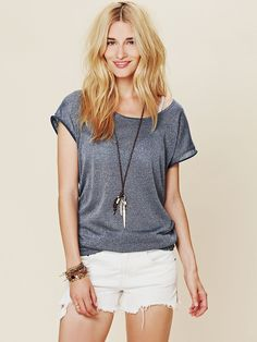 Free People Boy Town Tee, $58.00