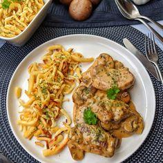 Schweinemedaillons in Champignon Rahmsoße ist eines dieser tollen Gerichte das . - Et Yemekleri - Las recetas más prácticas y fáciles Fried Egg Recipes, Grilled Steak Recipes, Grilling Recipes, Pasta Recipes, Pork Medallions, Mushroom Cream Sauces, Vegetarian Recipes, Healthy Recipes, Stuffed Mushrooms