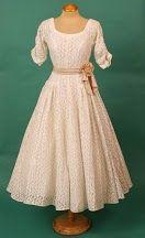 stunning 1950's couture lace wedding dress from Elizabeth Avey elizabethvey.com