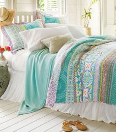 Colorful Coastal Bedding by Positano