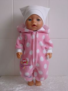 Baby Knitting Patterns Dress Doll clothes Jumpsuit for, for example, JAKO-O crumbs / BABY BORN o. Sewing Doll Clothes, Sewing Dolls, Girl Doll Clothes, Doll Clothes Patterns, Barbie Clothes, Girl Dolls, Baby Dolls, Dolly Dress Up, Best Baby Doll
