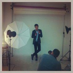 Foto tirada pelo pai do Artur Sousa no dia da sessão fotográfica no estúdio da GO. www.gomodelslisboa.com