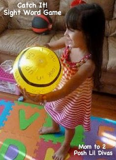 Catch the sight word!, use ballons, beach balls to play this fun game to practice sight words.