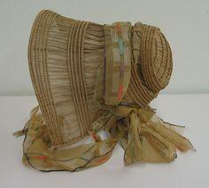 ~Drawn bonnet, ca. 1840; ATHM 1999.44.14~