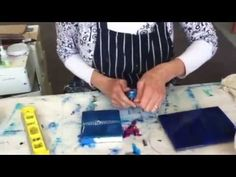 Using Liquitex Pouring Medium ( as a non-toxic resin-like coat on your paintings ) - YouTube
