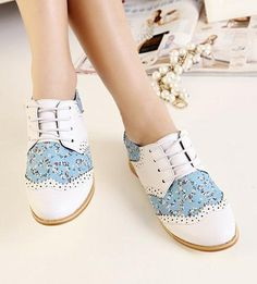 Free shipping fashion snake 2013 flats for women Oxfords shoes woman casual Ladies girls female lace up flowers print SXX31344-in Shoes on A...