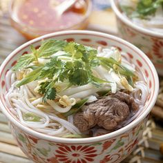 Pho:  This Vietnamese beef-noodle soup is low in fat and packed with iron, which keeps you energized and focused. - 12 Healthy Soup Recipes | Health.com