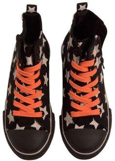 Molo Zapp Shoes - Black Star. £26.99